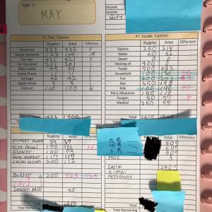 5月の家計簿締め