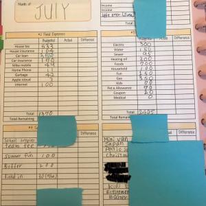 7月家計簿予算