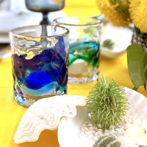 夏のホームパーティー~琉球ガラスが映える夏のテーブル