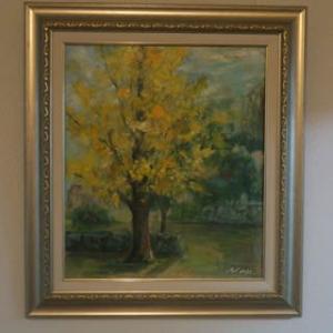 秋の絵,銀杏