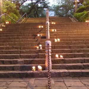 寺社巡り・東京⑰ 池上本門寺。加藤清正の階段から五重塔を見上げ、力道山に手を合わせてアジサイに見入る
