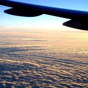 雲を見上げる① 朝焼けに染まるオレンジの雲から、空を埋め尽くす鱗雲まで。