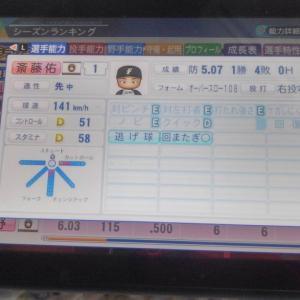 パワプロ2020のペナントで斎藤佑樹を一軍で固定して使ったらこうなった🧐