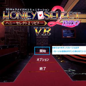 初心者でもわかる!ハニーセレクトリピドー2 VR版の起動方法