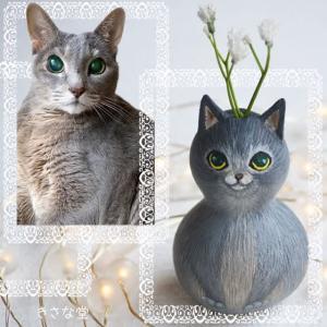 ひょうたんねこのグレー猫さん