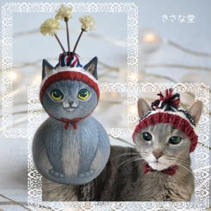 ひょうたんねこのニット帽猫さん