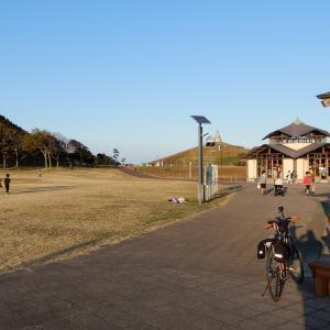 鹿島灘海浜公園のイルミネーションと海岸空撮
