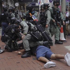 香港デモ、国家安全法に抗議