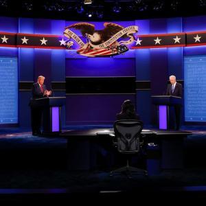 アメリカ大統領選挙、最終TV討論会直後
