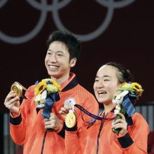 苦悩越え、絆深めた同郷ペアが卓球に第1号メダル