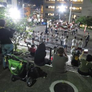 長崎くんち踊町 籠町の龍踊(じゃおどり)の練習風景