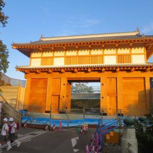水戸学の道 光圀ルート3  水戸城大手門と旧水戸彰考館跡、歴史書「大日本史」