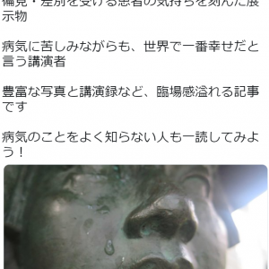 国立ハンセン病資料館の感想記事 - 村内伸弘さん渾身の記事