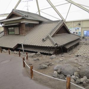 土石流被災家屋保存公園(道の駅みずなし本陣)に普賢岳噴火被災地の状況がそのまま永久保存されている