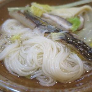 島原の郷土料理  具雑煮 + 手延べ素麺=具雑煮穴子そうめんとかんざらしをペロリ