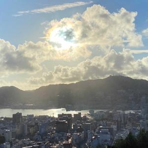 ホテル矢太樓南館からの長崎の夕景が絶景、絶景、超絶景!!