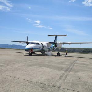 ORCオリエンタルエアブリッジのターボプロップ旅客機で福江島 五島つばき空港へ