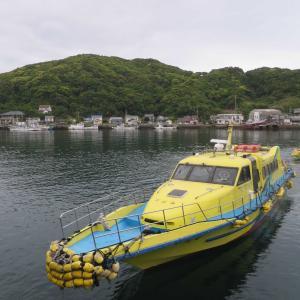 海上タクシーで久賀島から奈留島へ。奈留港を散歩。