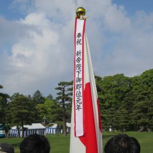 日の丸を持つ皇居前広場の大群衆 - 御即位一般参賀に行ってきました