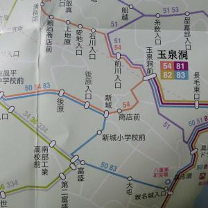 那覇バスターミナルから琉球バスで新城へ、新城から徒歩でガンガラーの谷へ