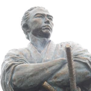 長崎・風頭公園 坂本龍馬の銅像&司馬遼太郎「竜馬がゆく」文学碑