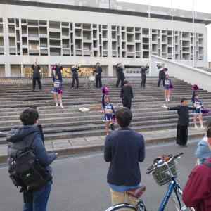 花の京大応援団!新入生を歓迎する京都大学応援団