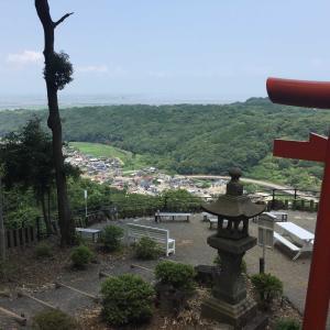 祐徳稲荷神社 奥の院へ 大汗流した後、絶景の有明海を見えました!