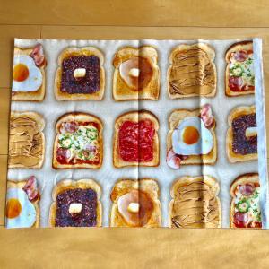 トースト柄の生地