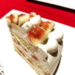コムサカフェのイチジクショートケーキ
