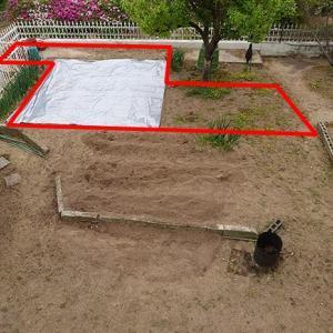 庭キャンプ場の人工芝化(5)