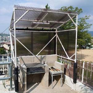 庭キャンプ場の台風対策