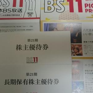 日本BS放送から優待券