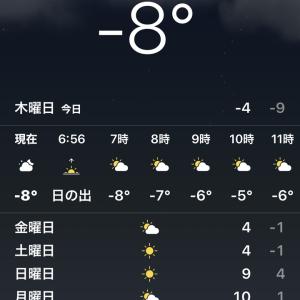今シーズン最低気温マイナス10度@中国 大連