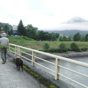 只見の朝散歩は水の郷公園へ