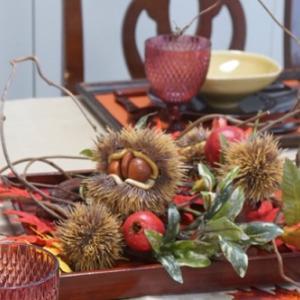 今月のテーブルは秋色いっぱい!