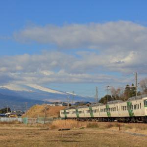 伊豆箱根鉄道の富士山の見えるポイントを行く185系「踊り子号」他(三島二日町~大場)
