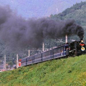 福知山線を走行する懐かしのC56-160号機と183系+きは65系「北近畿+エーデル丹後」(柏原~谷川)