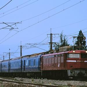 信越本線を行く懐かしのEF81-137号機牽引の24系客車他(前川~来迎寺)