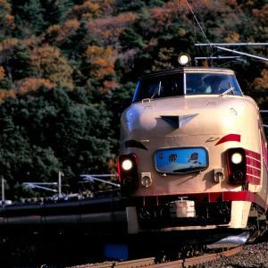 北陸本線の晩秋を行く懐かしの485系特急「雷鳥」と「加越」(新疋田~敦賀)