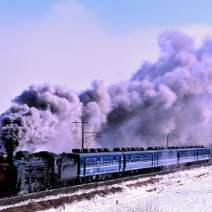 磐越西線の銀世界を行くD51-498号機牽引の「SL会津冬紀行号」(磐梯熱海~安子ヶ島)