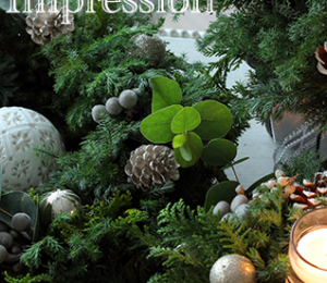 【募集】生花クリスマスレッスン♪ツリー&リース&センターピース