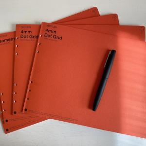 【Protter A4リフィルメモパッド】広く使えて6穴バインダに収納出来るレポートパッド・万年筆での書き味も気持ち良い!