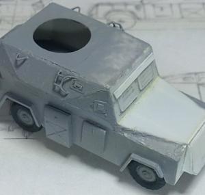 1/76 ランドローバー改造sd.kfz.222 (4)
