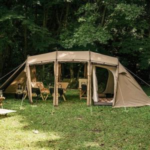 【アルニカ】サバティカルより開放的なトンネル型テントが登場!