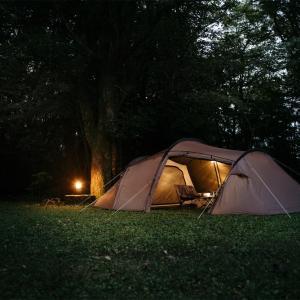 【ギリア】サバティカルより人数に合わせてインナーが変えれるトンネル型テントが登場!