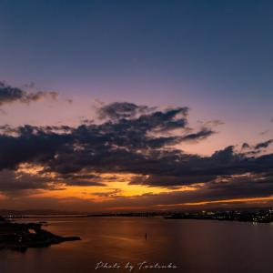 児島湾大橋の夕焼け