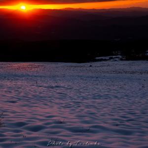 伯耆大山雪景色