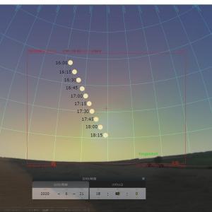 2020年6月21日の日食シミュレーション
