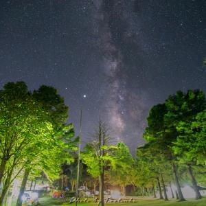 キャンプ場の夜と真夏のオリオン