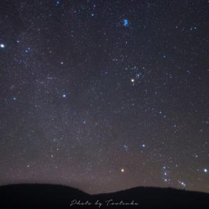 昇る冬の星座